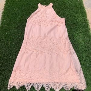 Charlotte Russe Lace High Neck Dress